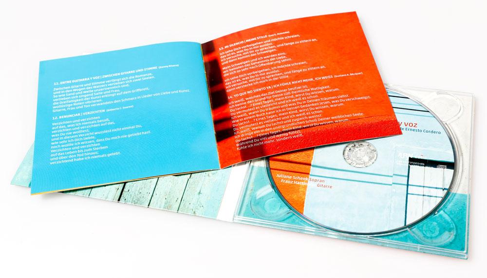 CD mit Booklet | Juliane Schenk und Franz Hartmann