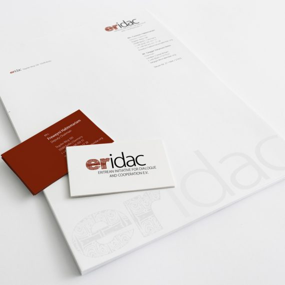 Logo, Briefbogen, Visitenkarten | eridac e.V.