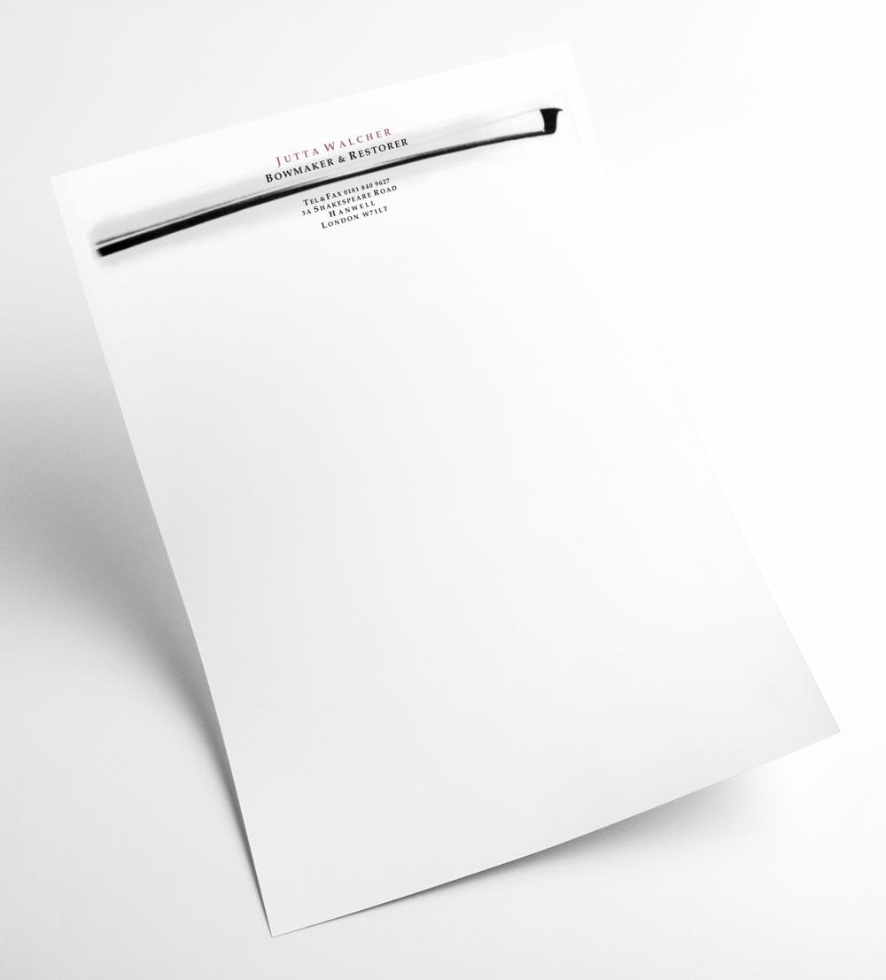 Briefbogen | Jutta Walcher Bowmaker