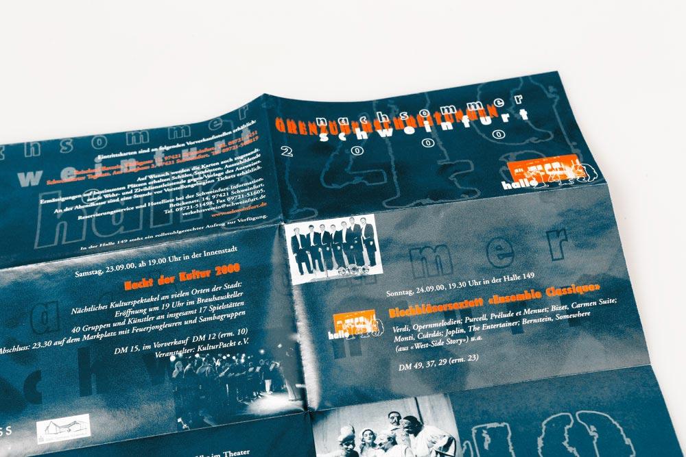 Flyer | Kulturprogramm Nachsommer Schweinfurt