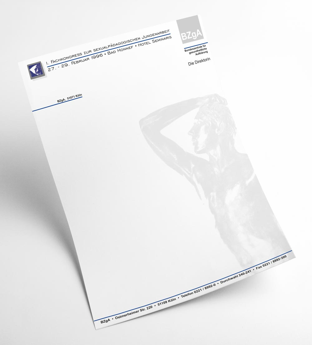 Briefbogen | BZgA, 1. Fachkongress zur sexualpädagogischen Jugendarbeit