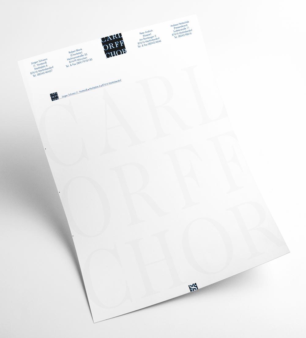 Briefbogen | Carl Orff Chor