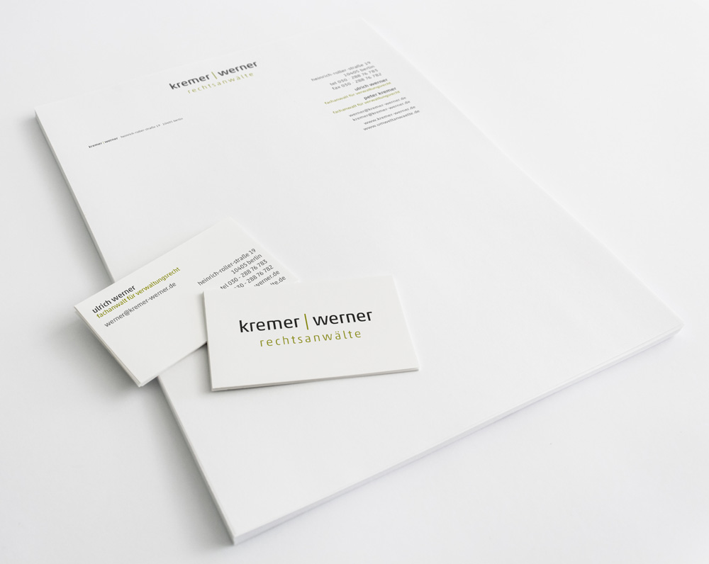 Corporate Design | Kremer & Werner Rechtsanwälte