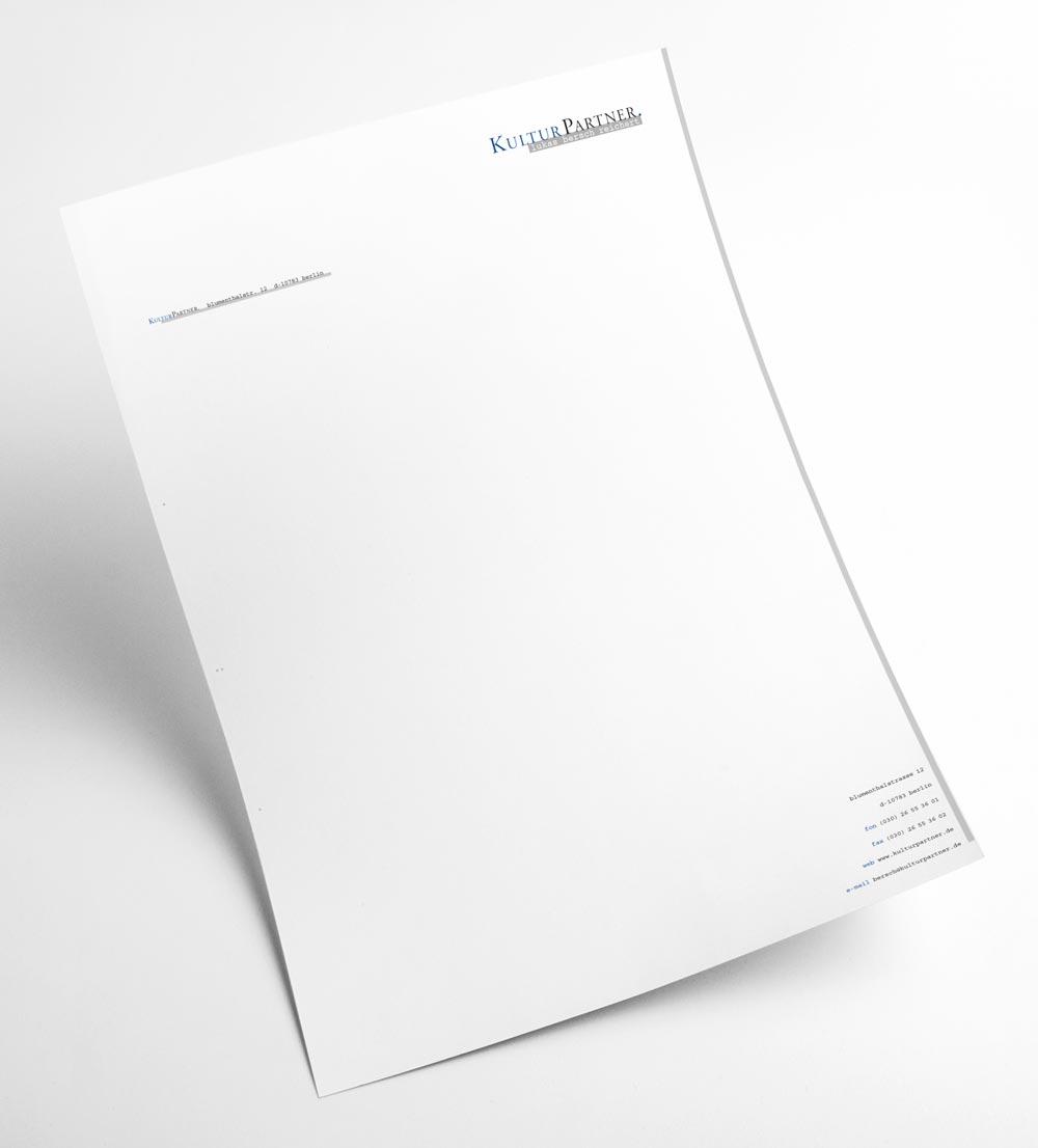 Briefbogen | KulturPartner