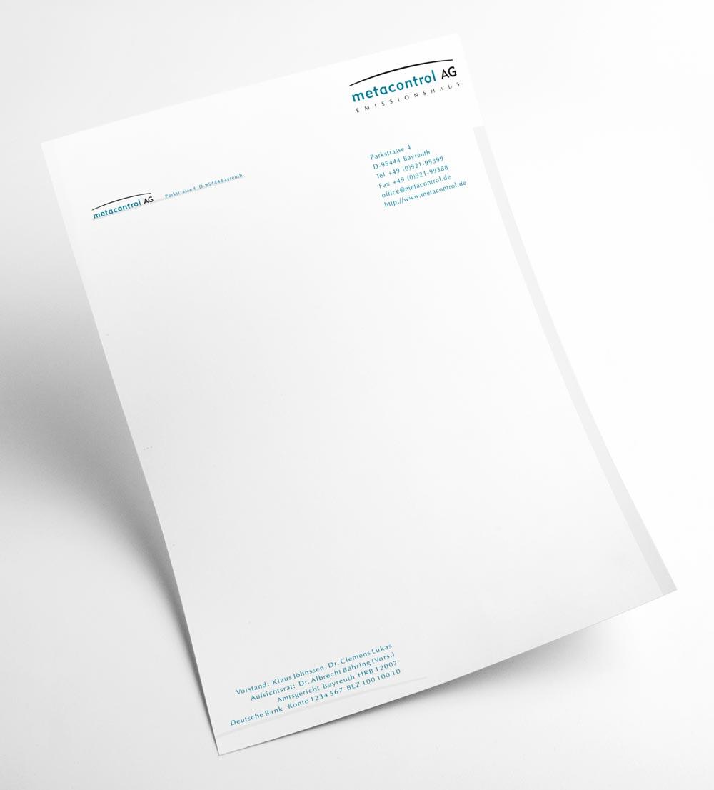 Briefbogen | metacontrol AG