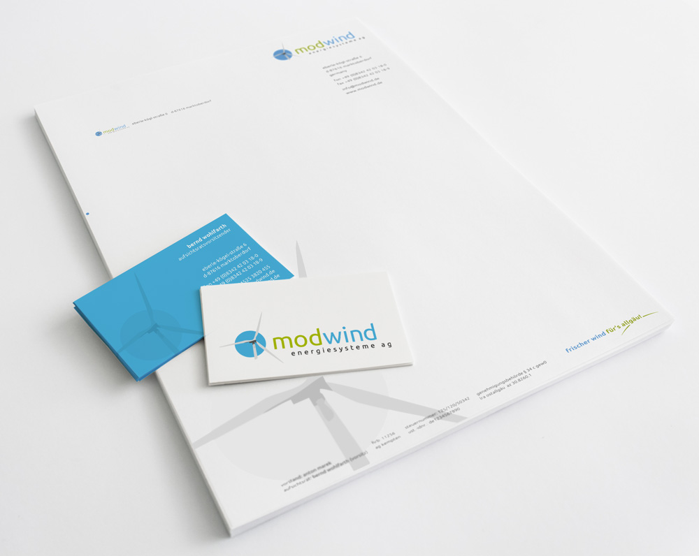 Corporate Design | Modwind Energiesysteme AG