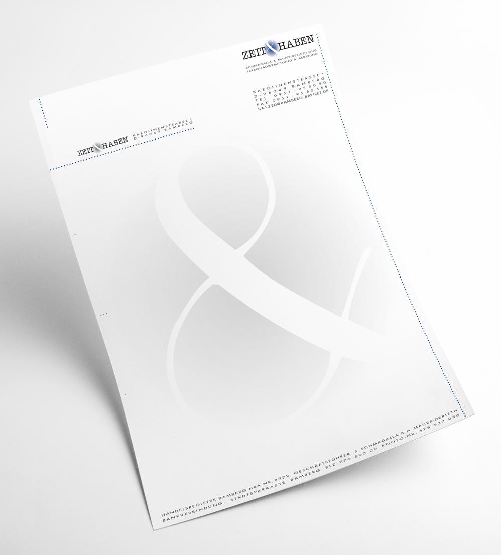 Briefbogen | Zeit & Haben OHG