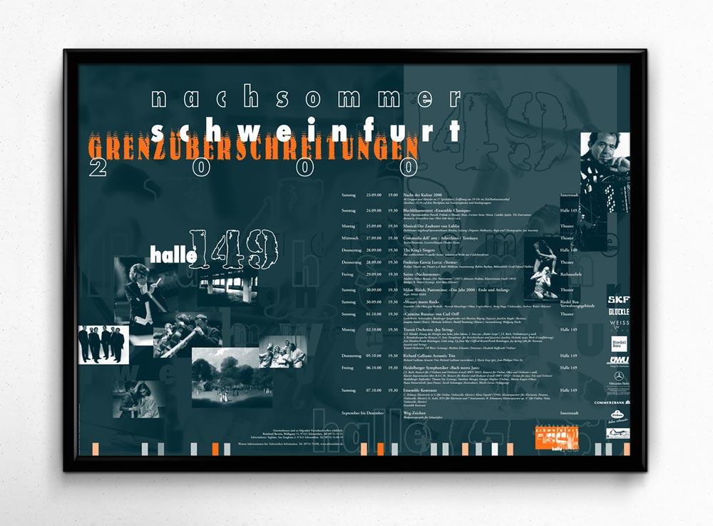 Plakat | Kulturprogramm Nachsommer Schweinfurt